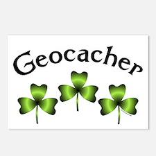 Geocacher 3 Shamrocks Postcards (Package of 8)