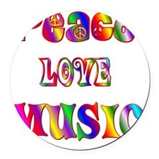 MUSIC Round Car Magnet