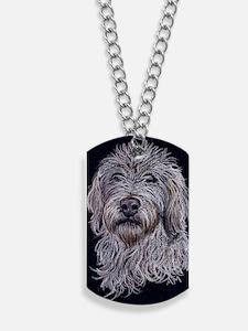 labradoodle2 Dog Tags