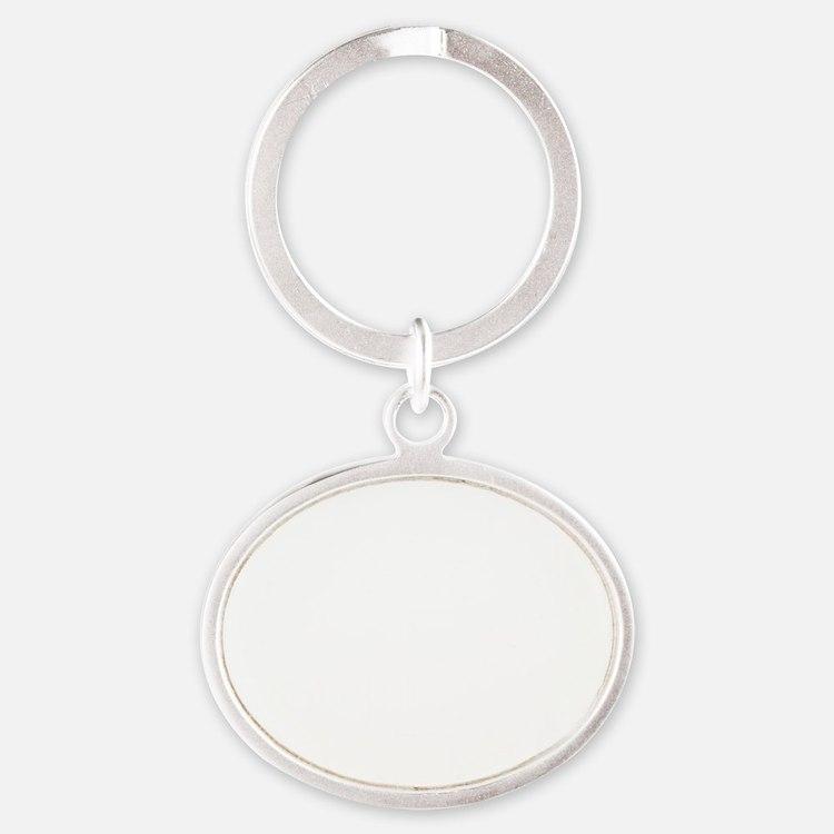 Rahm_Father_transparent Oval Keychain