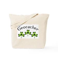 Geocacher 3 Shamrocks Tote Bag