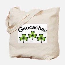 Geocacher 3 Shamrocks Tote Bag