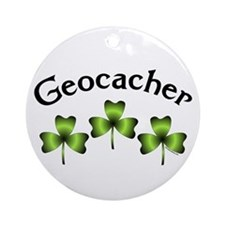 Geocacher 3 Shamrocks Ornament (Round)