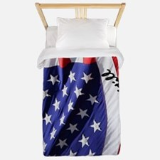 USA Flag: IN GOD WE Still TRUST Twin Duvet