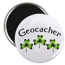 Geocacher 3 Shamrocks Magnet