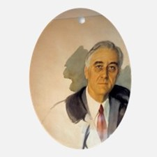 Unfishished Portrait of Franklin Roo Oval Ornament