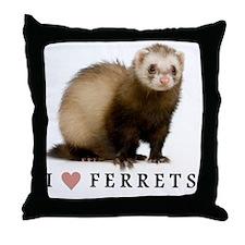 ferretiphonecase Throw Pillow