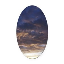 iPhone 3 Sunset Oval Car Magnet