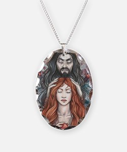 Hades  Persephone Necklace Oval Charm