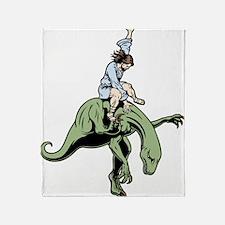 jesus-raptor-col-T Throw Blanket
