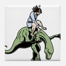 jesus-raptor-col-T Tile Coaster