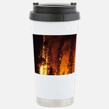 A wildfire in the Boise Nationa Travel Mug