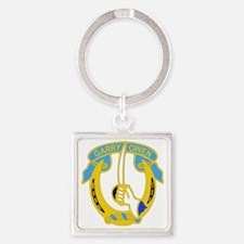 7TH CAV RGT Square Keychain