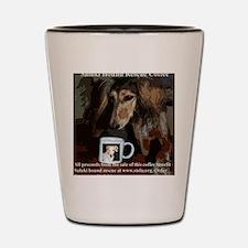 Coffee label5 copy Shot Glass