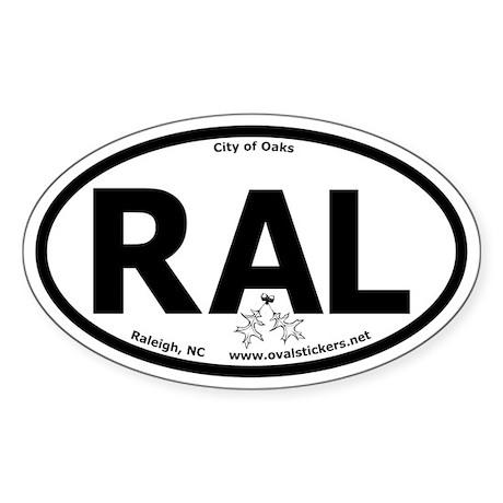 Raleigh, NC City of Oaks Oval Car Sticker