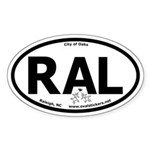 Raleigh, NC City of Oaks Oval Car Sticker