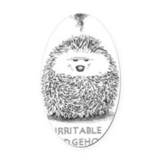 exasperated hedgie Oval Car Magnet