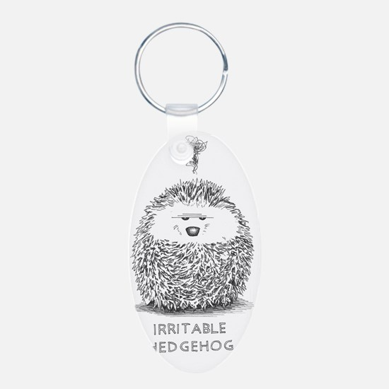 exasperated hedgie Keychains