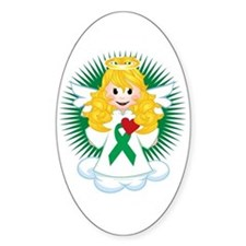 Angel-Watching-Over-Me-Green-Ribbon Decal