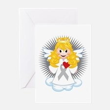 Angel-Watching-Over-Me-Grey-Ribbon-b Greeting Card