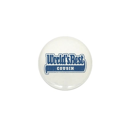 """World's Best Cousin"" [Blue] Mini Button"