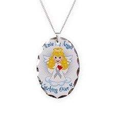Angel-Watching-Over-Me-Grey-Ri Necklace Oval Charm