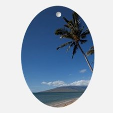Hawaii, Kihei. Kalama Beach. Oval Ornament