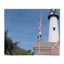 Simons Island. Historic St. Simons I Throw Blanket