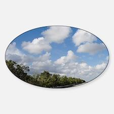 Florida, The Everglades: Tamiami Tr Sticker (Oval)