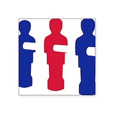"football_table_menblue Square Sticker 3"" x 3"""