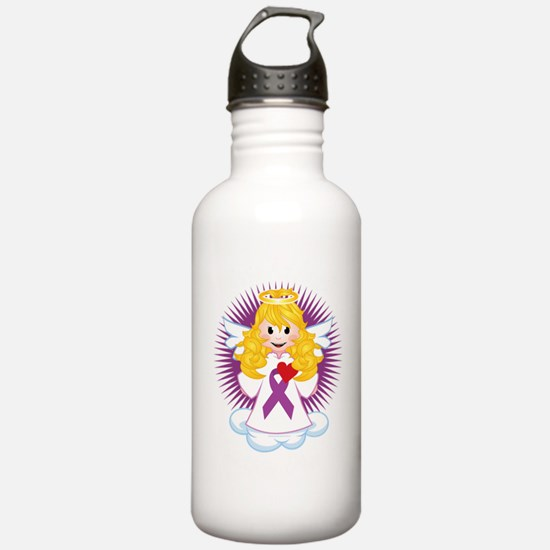 Angel-Watching-Over-Me Sports Water Bottle