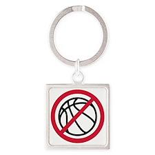 no_basketball Square Keychain