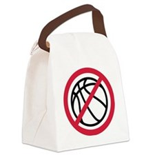 no_basketball Canvas Lunch Bag