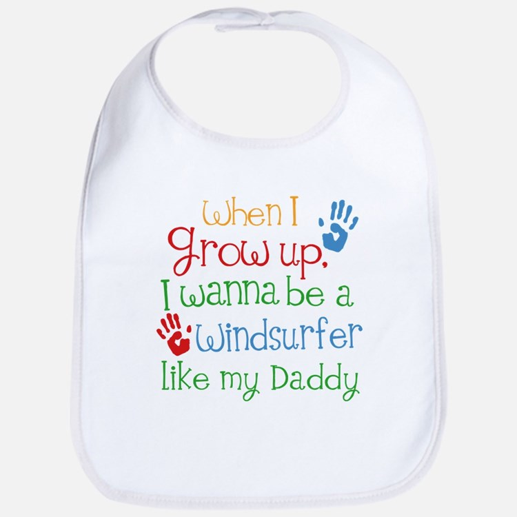 Windsurfer Like Daddy Baby Bib