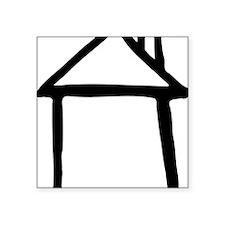 "house_drawn Square Sticker 3"" x 3"""