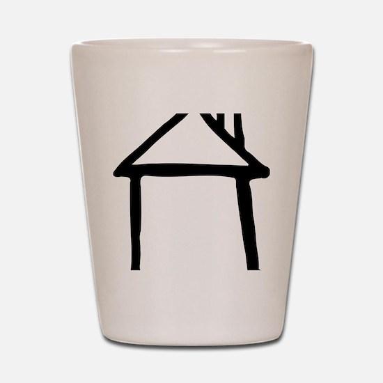 house_drawn Shot Glass