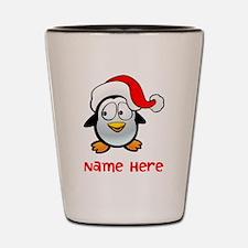 Penguin Santa Shot Glass