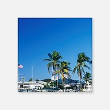 """FL, Sanibel, Sanibel Marina Square Sticker 3"""" x 3"""""""