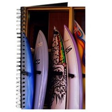 Surfboards stacked up and ready for sale i Journal