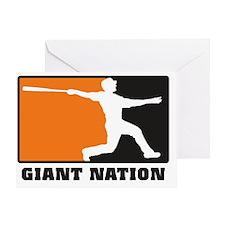 Giant nation v2 Greeting Card