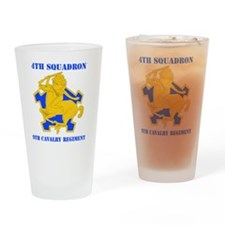 9TH CAVALRY RGT WITH TEXT Drinking Glass