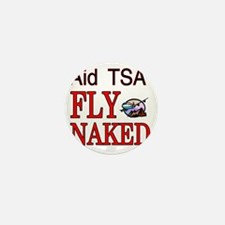 fly naked1 Mini Button