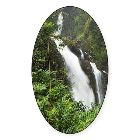 Waikani Falls, Hana Highway near Ha Sticker (Oval)