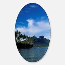 Boating in a Hawaiian cove Decal