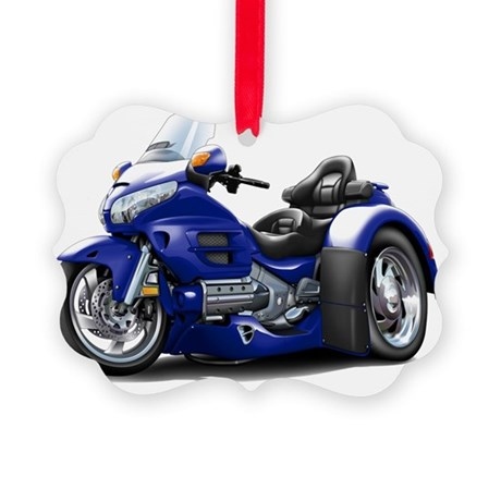 Goldwing GL1800 Dark Blue Trike Picture Ornament