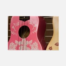 Hawaii, Kona. Two painted ukulele Rectangle Magnet