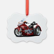 Goldwing GL1800 Maroon Trike Ornament