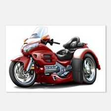 Goldwing GL1800 Maroon Tr Postcards (Package of 8)
