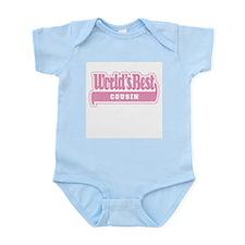 """""""World's Best Cousin"""" [Pink] Infant Bodysuit"""