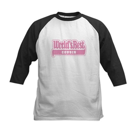 """""""World's Best Cousin"""" [Pink] Kids Baseball Jersey"""